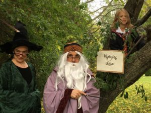 Professor McGOnagall, Professor Dumbledore, and Harry Potter even made appearances at his party.